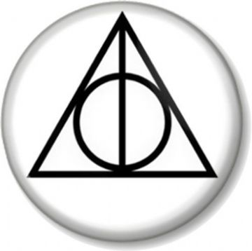 The Deathly Hallows Pinback Button Badge Harry Potter Logo Sign Crest Sigil J K Rowling